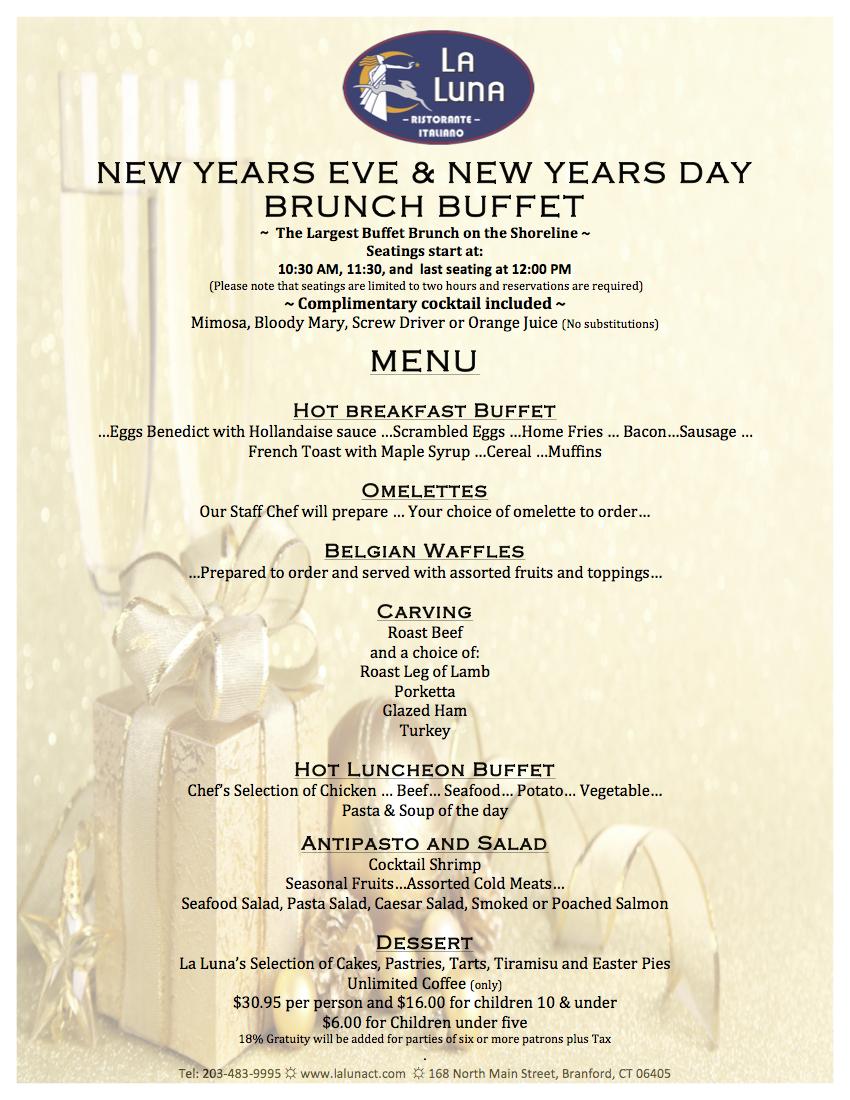 La Luna Ristorante Italiano | Branford CT | New Years Eve & New ...